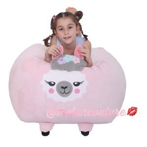 Llama Stuffie Storage Bean Bag Cover Velvet Plush